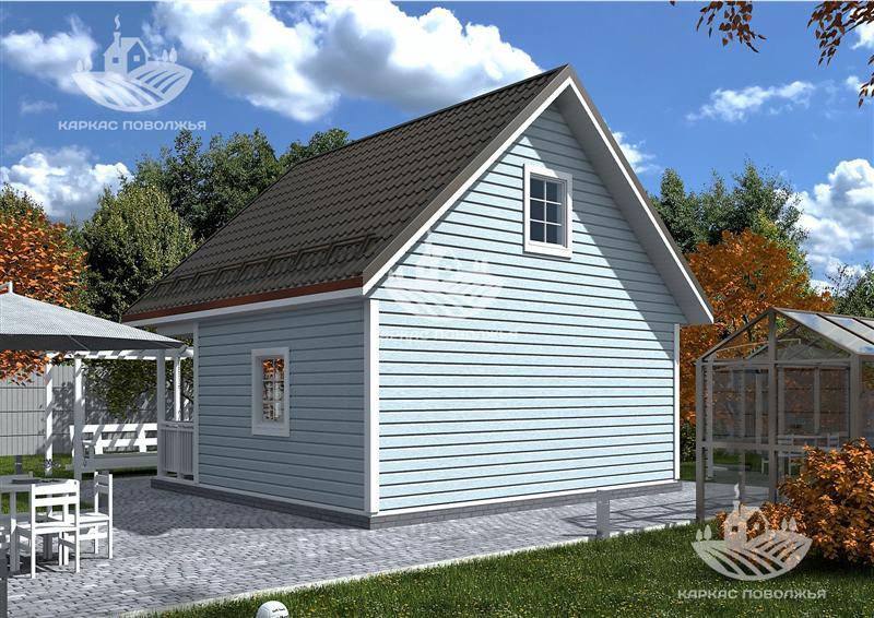 Каркасный дачный дом 6x6 (60м2) под ключ в Казани стоимость