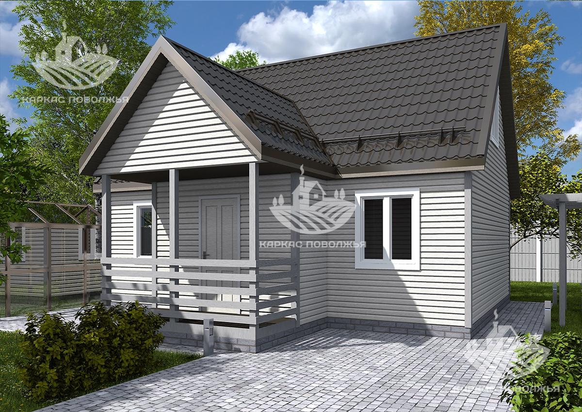 Каркасный дачный дом 6х8 (83м2) под ключ в Казани цена