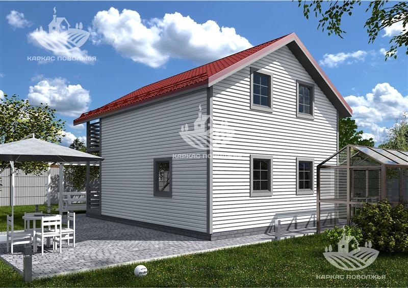 Каркасный дачный дом 6x7.5 (96м2) под ключ в Казани стоимость